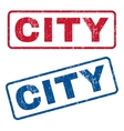 City Rubber Stamps vector image