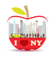 New York city in the big apple Vector Image
