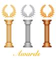 Column laurel awards vector image vector image