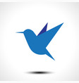 hummingbird icon isolated on white vector image