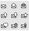 Envelopes Icons as Labels vector image