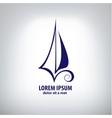 ship sign corporate logo vector image vector image