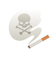 Cigarette smoke vector image