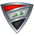 steel shield with flag iraq vector image vector image