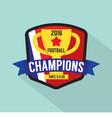 2016 Football Champions Badge vector image vector image