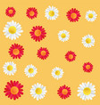 design colorful decorative flowers background vector image