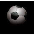 Football Soccer Ball on Black vector image