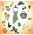 glamour summer lifestyle vector image
