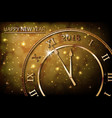 happy new 2018 year with bokeh and lens flare vector image