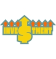 Investment grow up sticker vector image