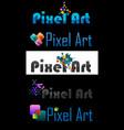 pixel art logo vector image