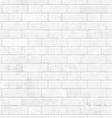 shabby chic white brick wall for your design vector image