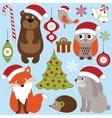 Christmas Woodland Animals vector image