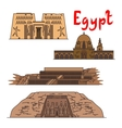 Egypt historic landmarks and sightseeings vector image