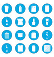 packaging icon blue vector image