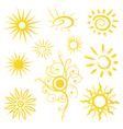 Sun sunshine weather vector image