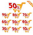 Label stitch template sale tag - - EPS10 vector image