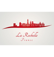 La Rochelle skyline in red vector image