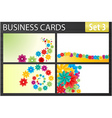 business cards vector image vector image