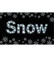 Diamond word snow vector image