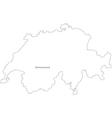 Black White Switzerland Outline Map vector image vector image