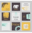 Abstract postcard templates vector image