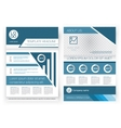 Brochure design template Front page and vector image