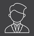 businessman line icon business and person vector image