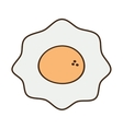 cartoon fried egg nutrition breakfast vector image