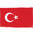 grunge turkey flag or banner vector image