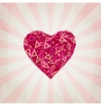 Happy Valentines Day card with low poly heart vector image