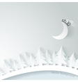 Modern background with spruce and moon vector image