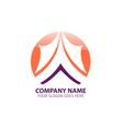 Mountain Peak Logo Icon Template vector image
