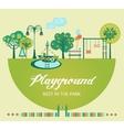 Playground Flat vector image