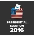 Presidential Election USA 2016 vector image