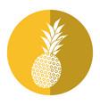 sweet pineapple tropical fruit shadow vector image