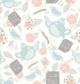 Tea vintage pattern vector image