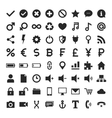 Universal Glyph Icons vector image