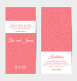 vertical wedding invitation cards template vector image