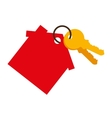 house keys isolated icon vector image