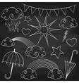 Chalkboard Weather Set vector image