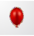 modern ballon with confetti on white vector image