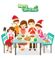 Happy Family Eating Together vector image