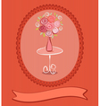 Roses postcard vector image vector image