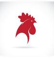 cock head design on white background farm vector image