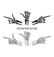 seleton hands gestures silhouettes vector image vector image
