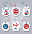 shopping pricing tags set vector image