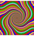 Design multicolor twirl rotation background vector image