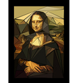 stylized mona lisa made of triangles vector image vector image