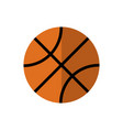 backetball icon on isolated background vector image